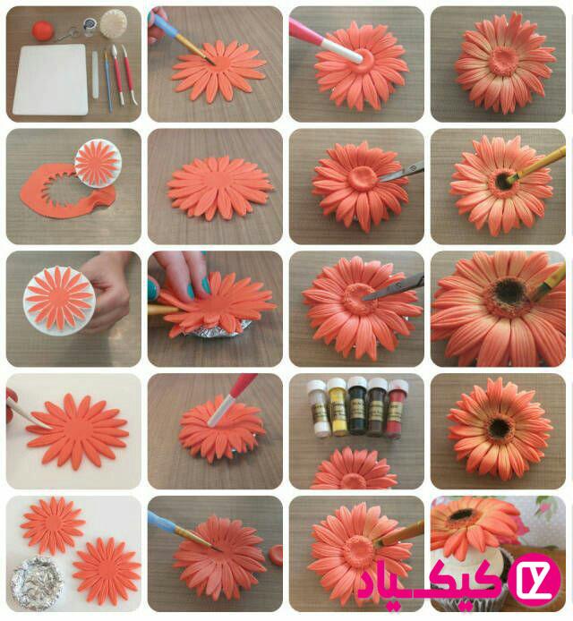 آموزش ساخت گل با فوندانت