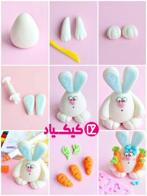 ساخت خرگوش با فوندانت