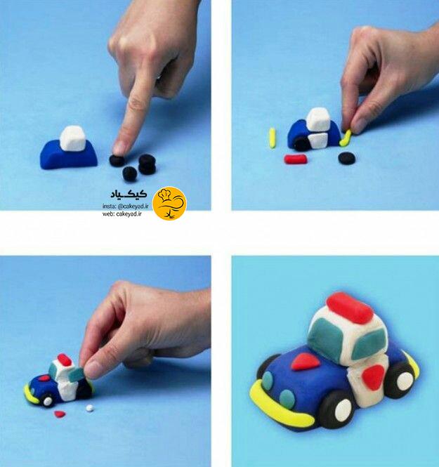 آموزش تاپر کیک – ماشین اسباب بازی